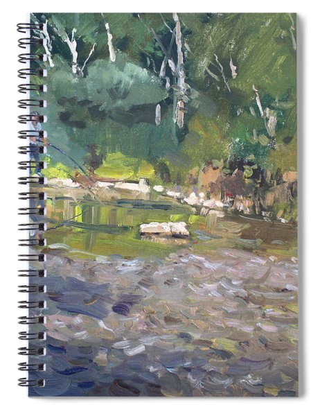 Out Fishing With Viola  Spiral Notebook