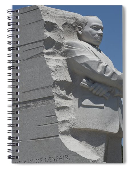 Out Of The Mountain Of Despair A Stone Of Hope Spiral Notebook