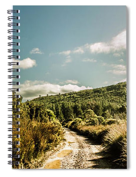 Outback Country Road Panorama Spiral Notebook