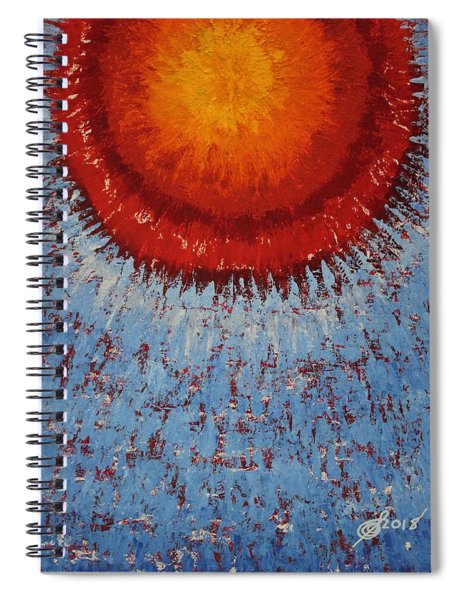 Outburst Original Painting Spiral Notebook