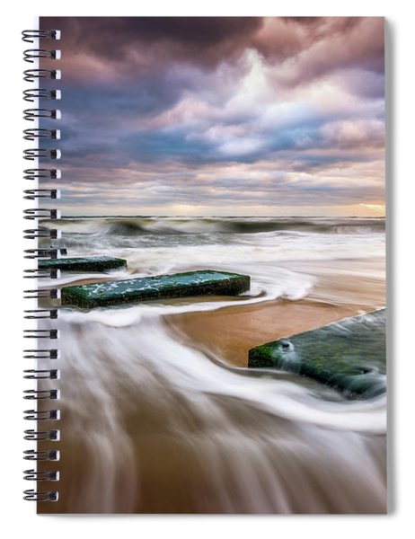 Outer Banks North Carolina Beach Sunrise Seascape Photography Obx Nags Head Nc Spiral Notebook
