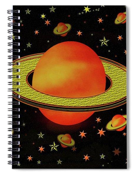 Outer Harvest Moons Spiral Notebook