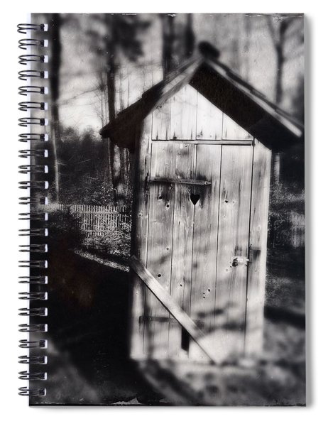 Outhouse Black And White Wetplate Spiral Notebook