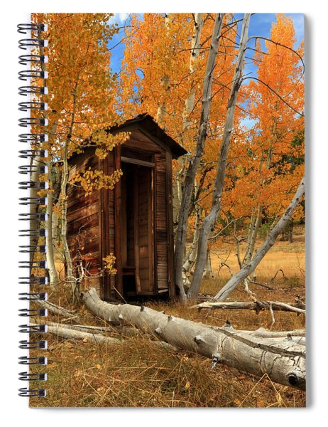 Outhouse In The Aspens Spiral Notebook