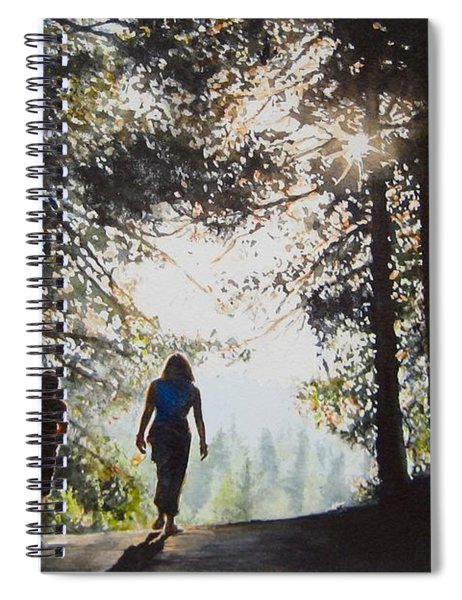 Over The Hills Spiral Notebook
