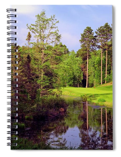 Over The Pond Spiral Notebook