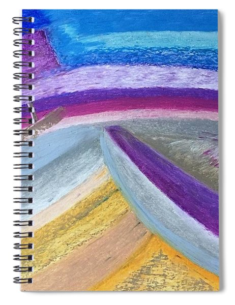 Over The Waves Spiral Notebook