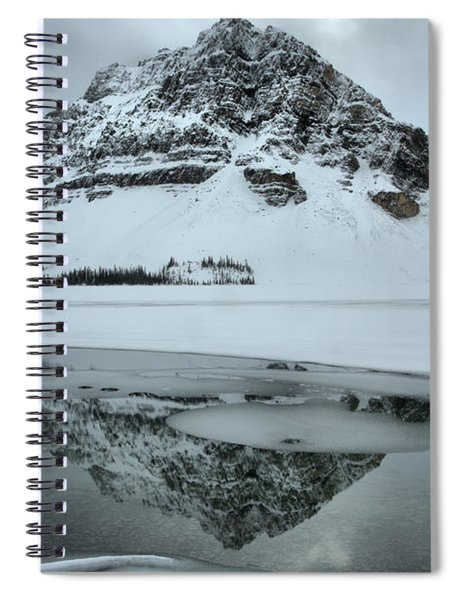 Overcast Winter Bow Lake Reflections Spiral Notebook