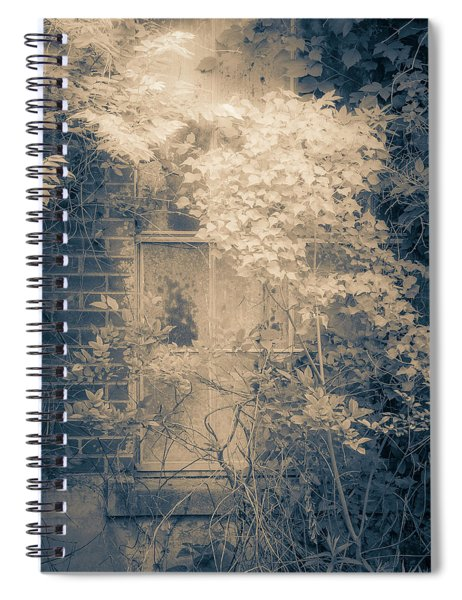 Overgrowth On Abandoned Pumping Station Spiral Notebook