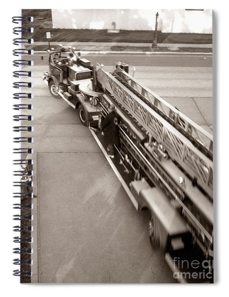 Overhead View Of Fire Truck, C.1960s Spiral Notebook