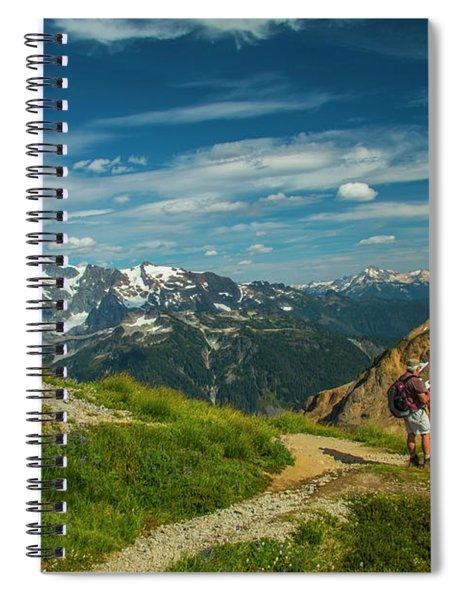 Overlooking Shuksan Spiral Notebook