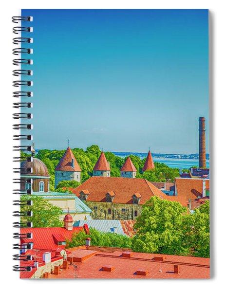 Overlooking Tallinn Spiral Notebook