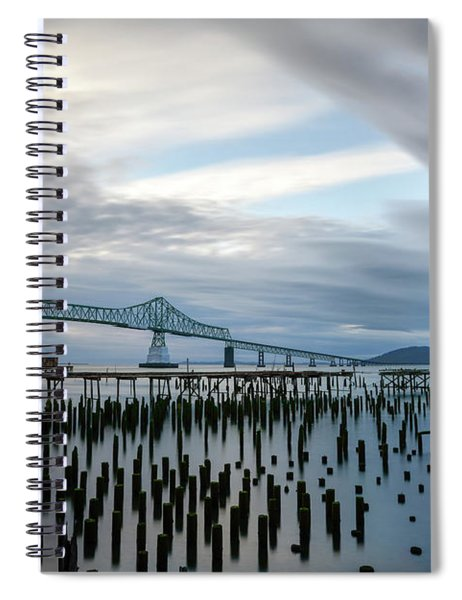 Overlooking The Bridge Spiral Notebook