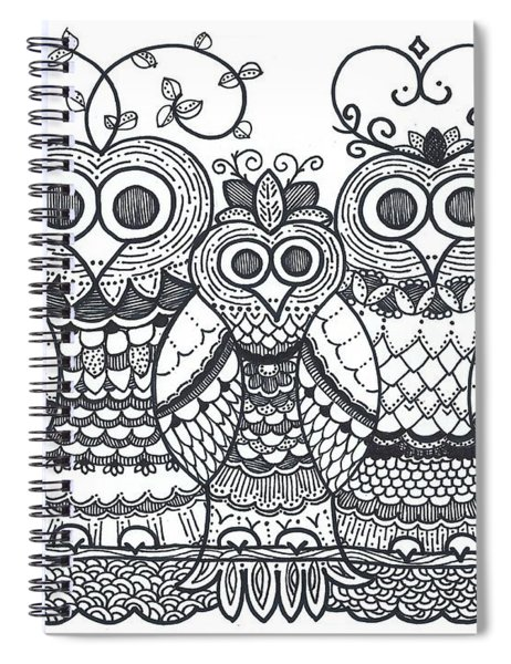Owl Family Spiral Notebook