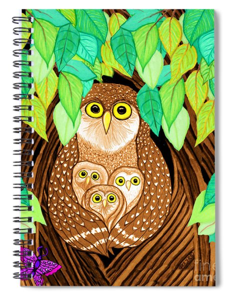 Owl Family Tree Spiral Notebook