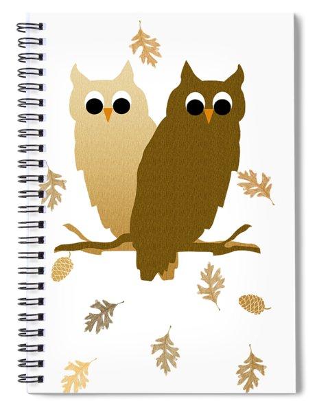 Owl Pattern Spiral Notebook