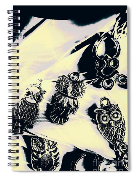 Owls From Blue Yonder Spiral Notebook