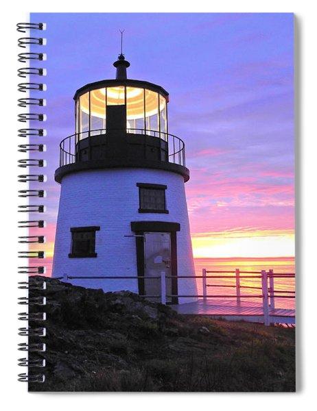 Owls Head Light Spiral Notebook