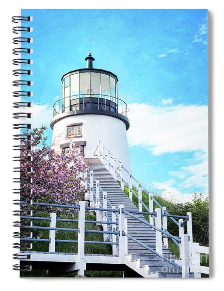 Owl's Head Light In Early June Spiral Notebook