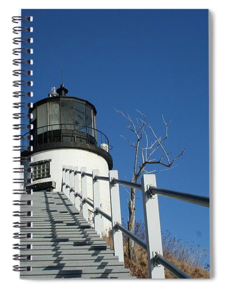 Owls Head Lighthouse Winter Spiral Notebook