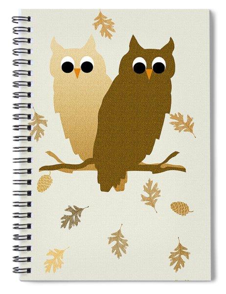 Owls Pattern Art Spiral Notebook
