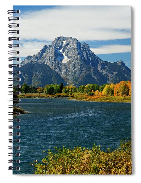 Oxbow Bend In Autumn Borderless Spiral Notebook