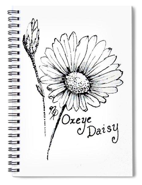 Oxeye Daisy Spiral Notebook