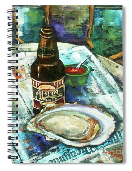 Oyster And Amber Spiral Notebook