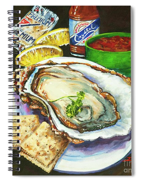 Oyster And Crystal Spiral Notebook