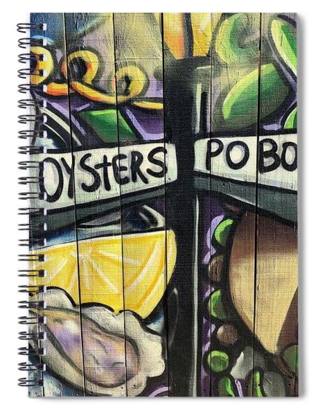 Oyster Poboys Spiral Notebook