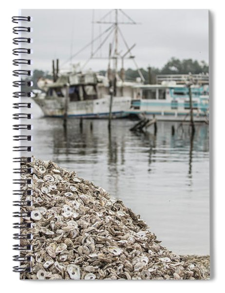Oyster Shells And Boats  Spiral Notebook
