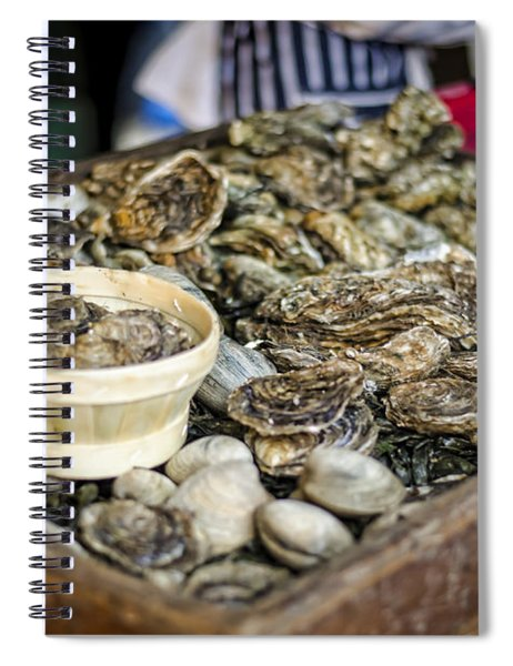 Oysters At The Market Spiral Notebook
