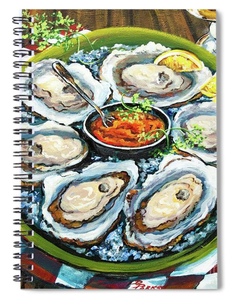 Oysters On The Half Shell Spiral Notebook