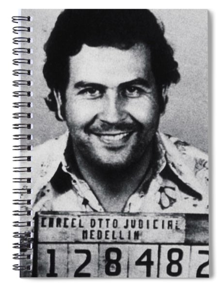Pablo Escobar Mug Shot 1991 Vertical Spiral Notebook