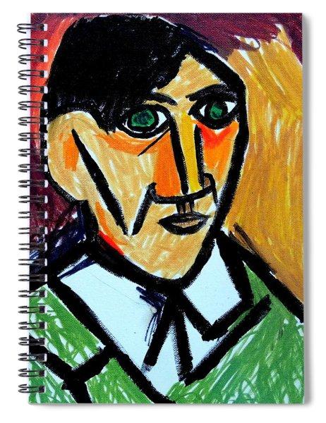 Pablo Picasso 1907 Self-portrait Remake Spiral Notebook