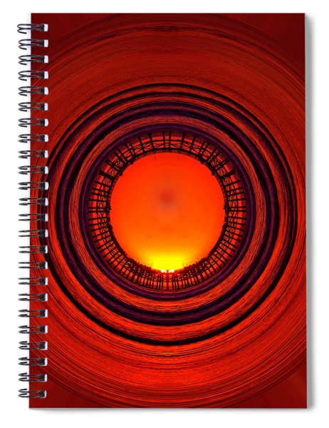 Pacific Beach Pier Sunset - Abstract Spiral Notebook