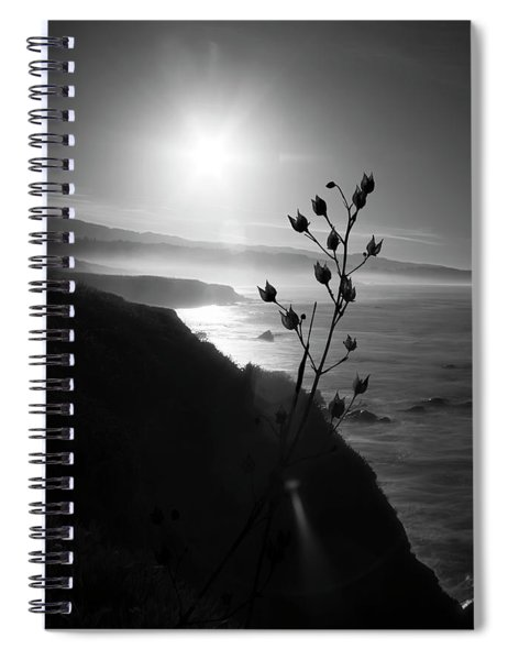 Pacific Coast B/w Spiral Notebook