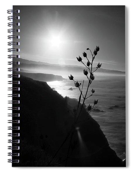 Pacific Coast B/w Spiral Notebook