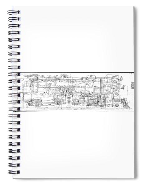 Pacific Locomotive Diagram Spiral Notebook