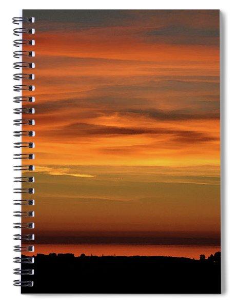 Pacific Ocean Sunset Spiral Notebook