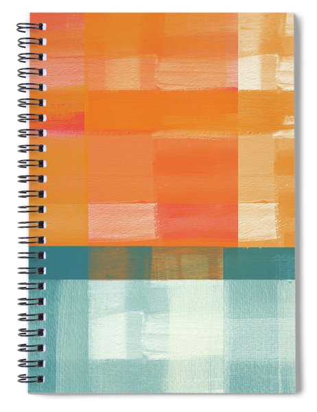 Pacific Sunset 2- Abstract Art By Linda Woods Spiral Notebook
