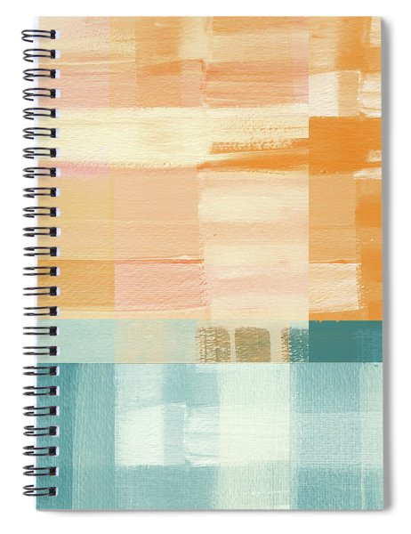 Pacific Sunset- Abstract Art By Linda Woods Spiral Notebook