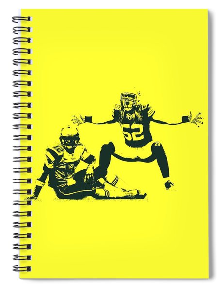 Packers Clay Matthews Sack Spiral Notebook