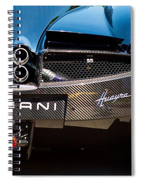 Pagani Huayra Black Spiral Notebook
