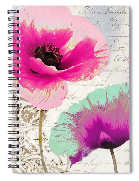 Paint And Poppies II Spiral Notebook