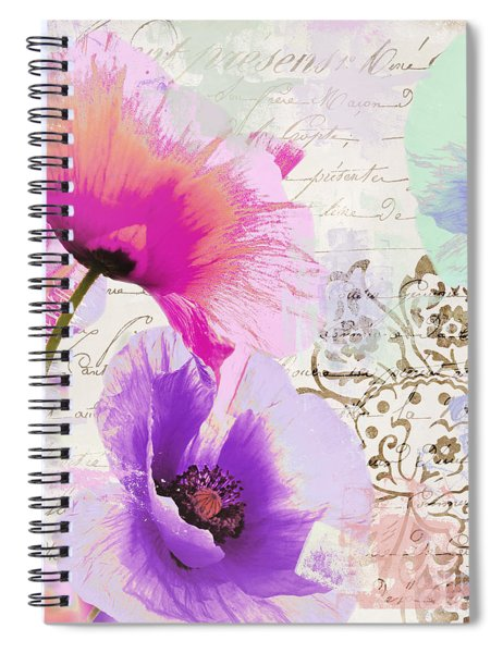 Paint And Poppies Spiral Notebook
