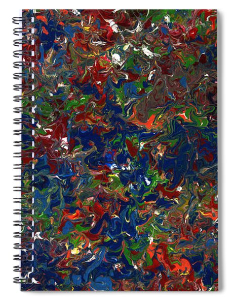 Spiral Notebook featuring the painting Paint Number 1 by James W Johnson