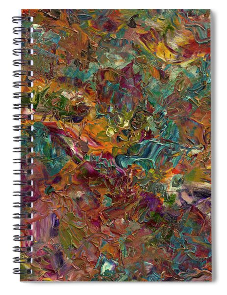 Spiral Notebook featuring the painting Paint Number 16 by James W Johnson