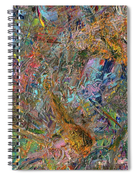 Spiral Notebook featuring the painting Paint Number 26 by James W Johnson