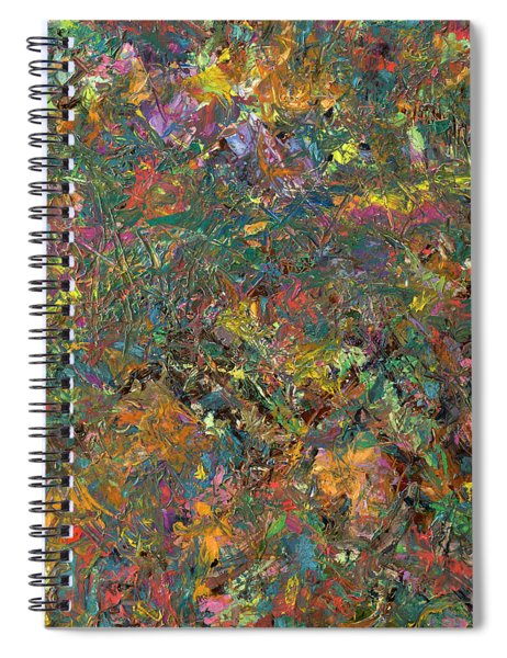 Spiral Notebook featuring the painting Paint Number 29 by James W Johnson